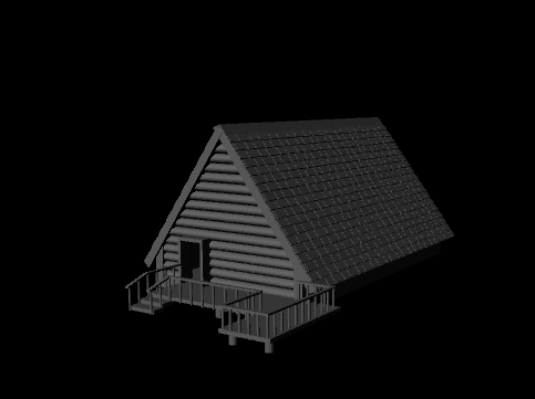 A-frame House 3D by ShimmerHale
