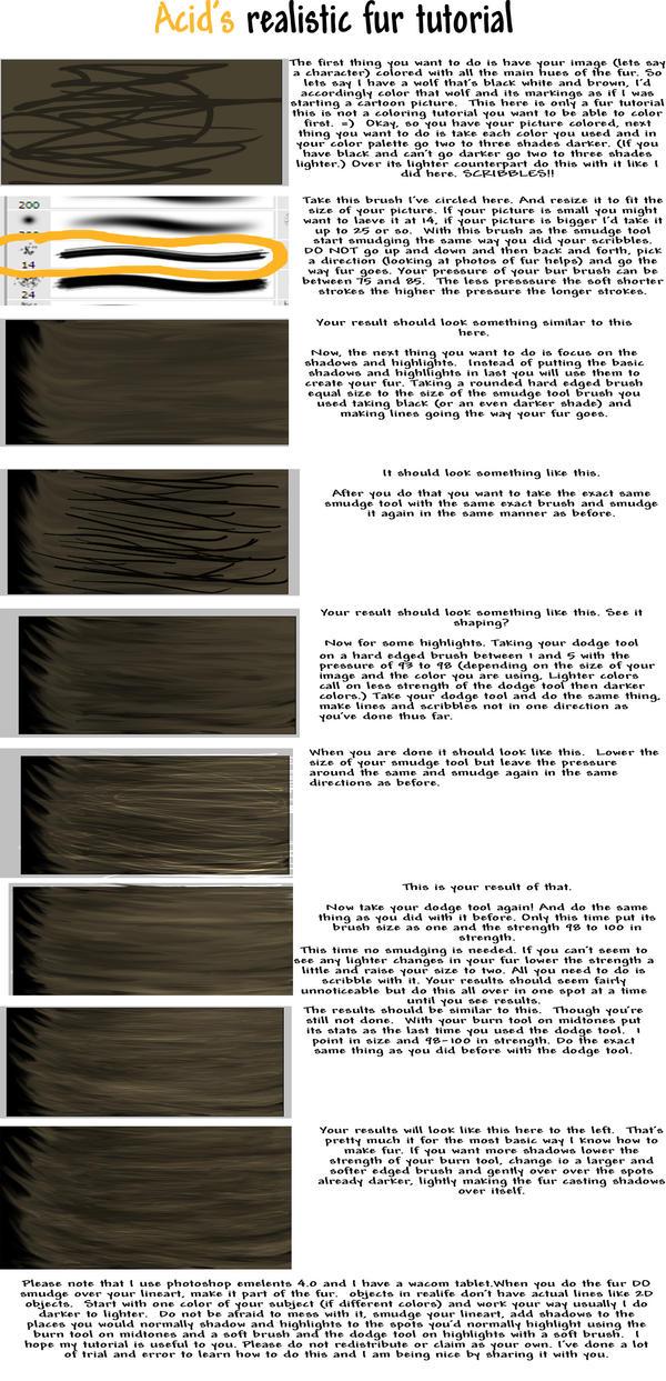 Realistic Fur Tutorial by acidreins