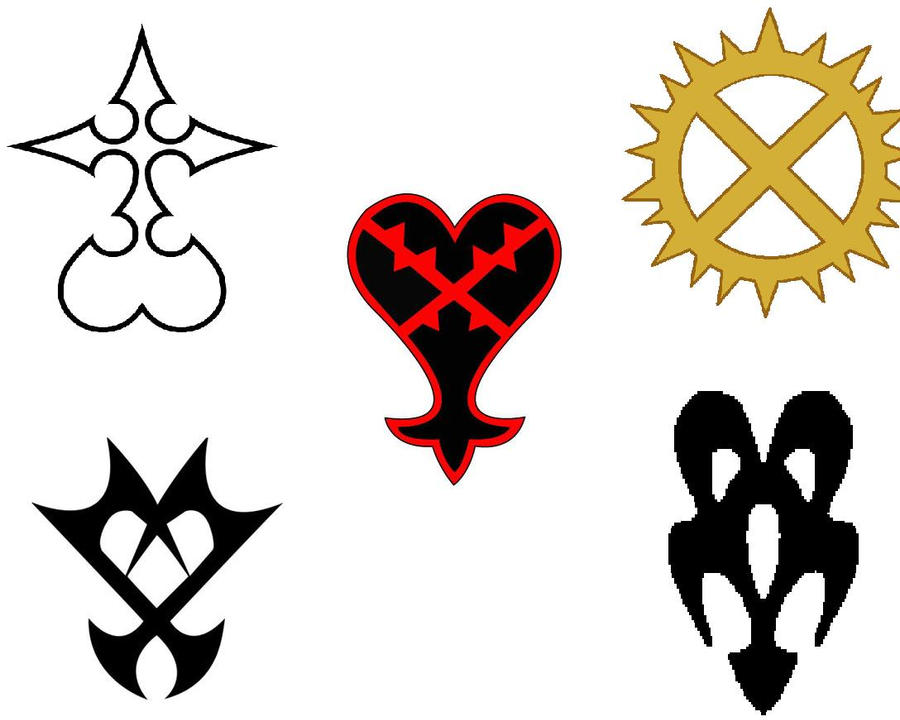 Kingdom Hearts Symbols By Vexenrandomdrawerguy On Deviantart