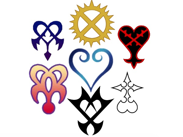 Kingdom Hearts Symbols by VexenRandomDrawerGuy