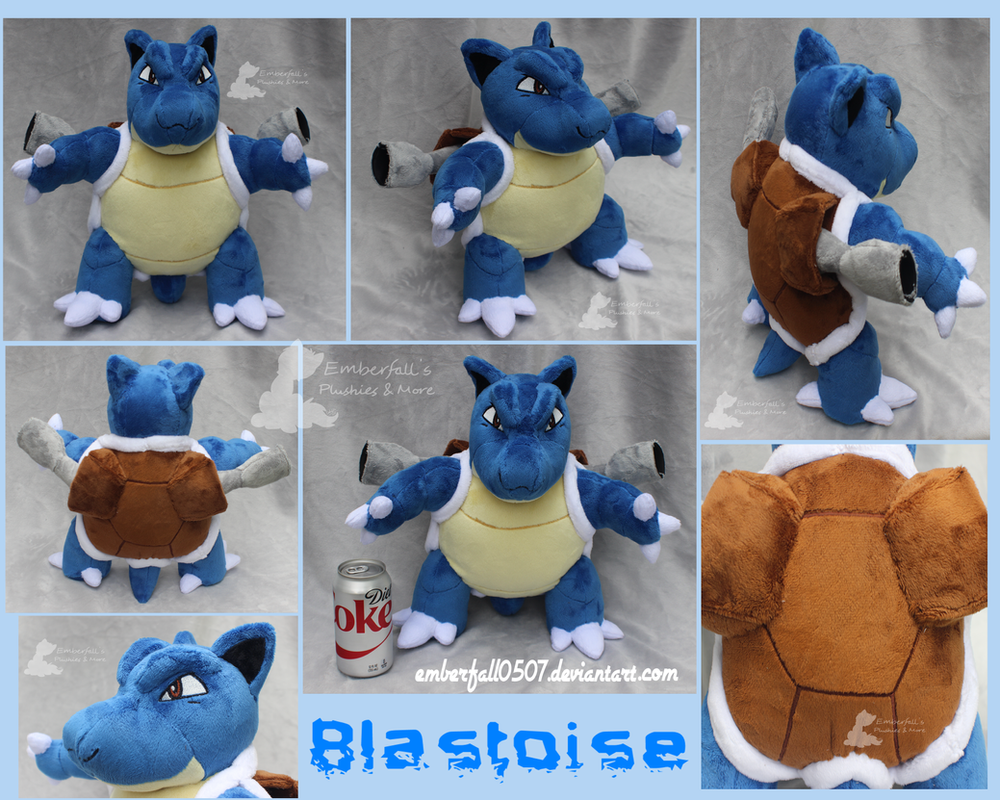 Blastoise custom plush by EmberfallPlush on DeviantArt