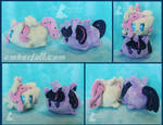 4in Fluttershy and Twilight stacking plush