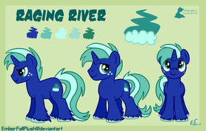 Raging River reference sheet commission