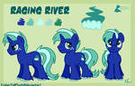 Raging River reference sheet commission by EmberfallPlush