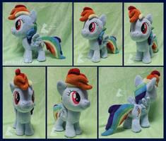 10in Mini Rainbow Dash 2 by EmberfallPlush