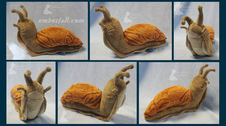 8in Giant African Land Snail by EmberfallPlush