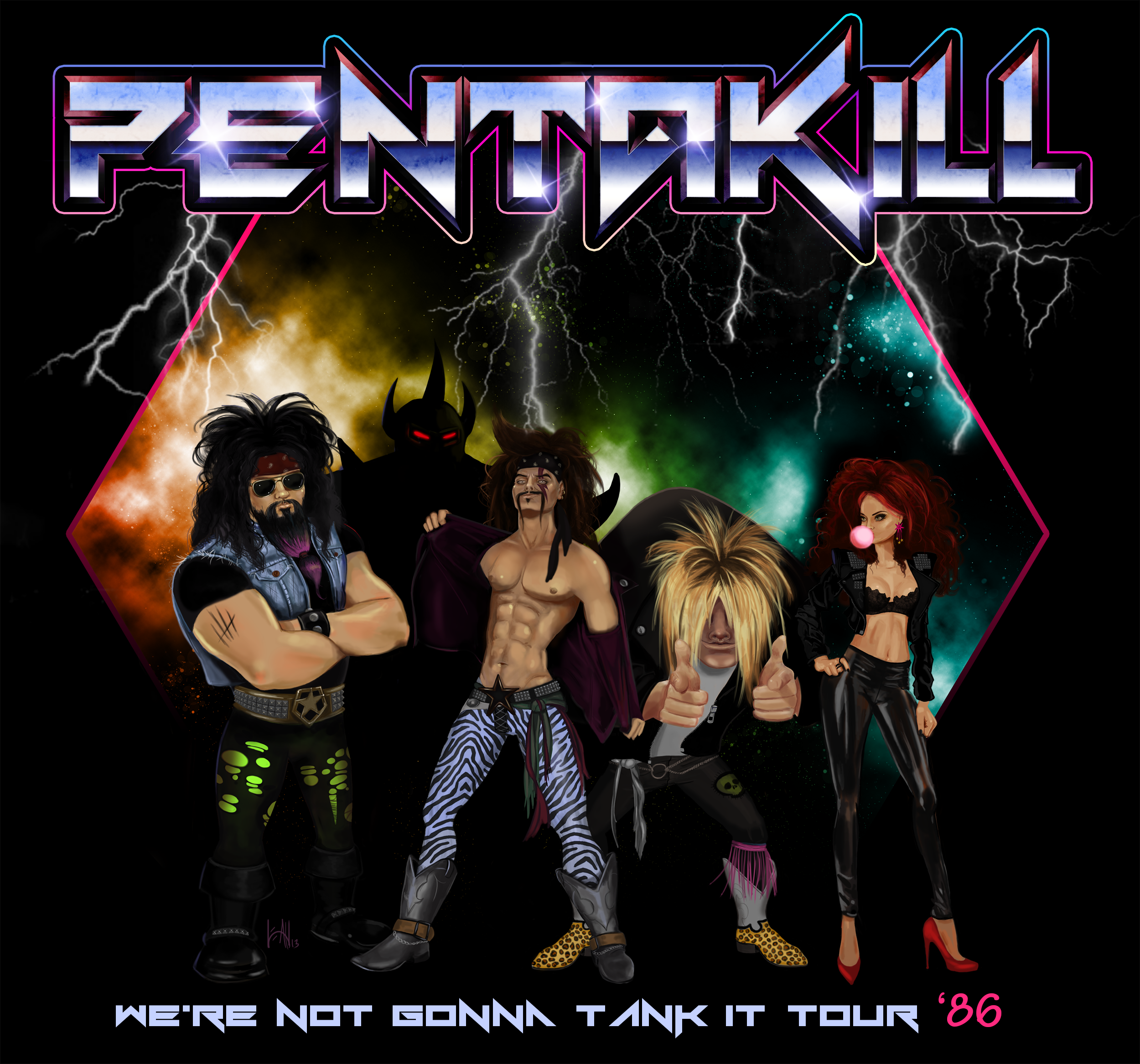 Pentakill Band 80s Pentakill by lsome...