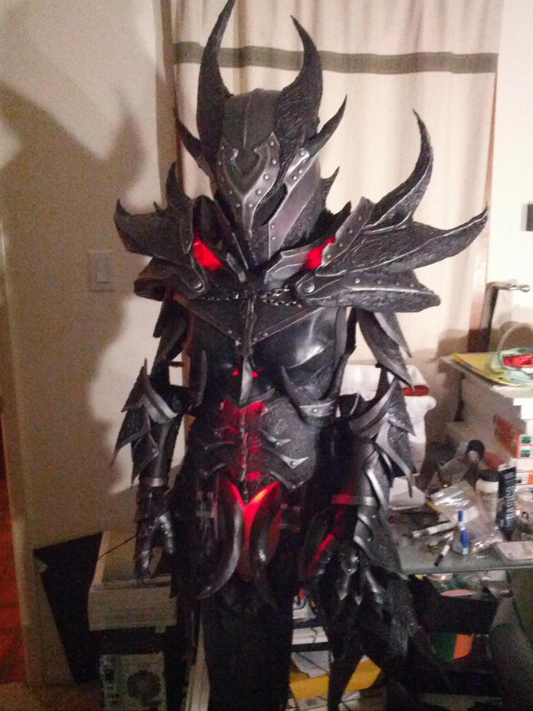 Daedric armor in progress, lighting scheme #2 by lsomething