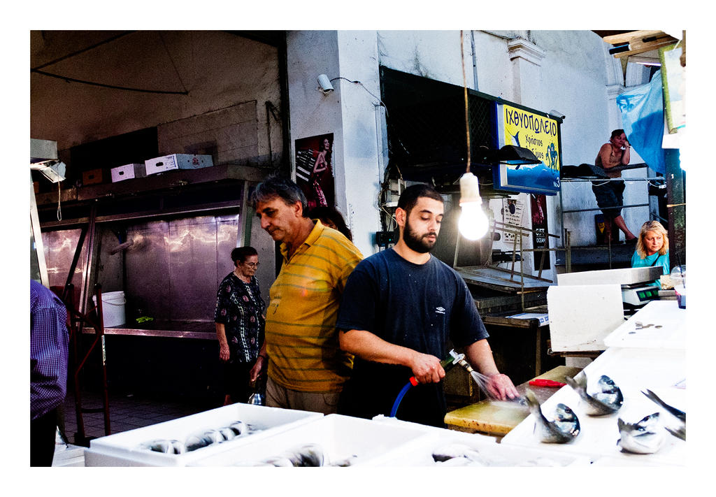 Fish Market, color, Athens Aug 2015 by thelizardking25