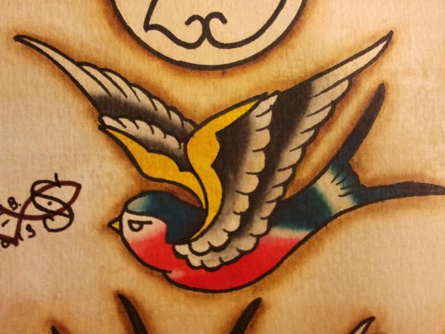 Tattoo flash coasting swallow by bass slinger on deviantart for Swallow art tattoo