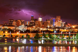 Downtown Denver Storm by yenom
