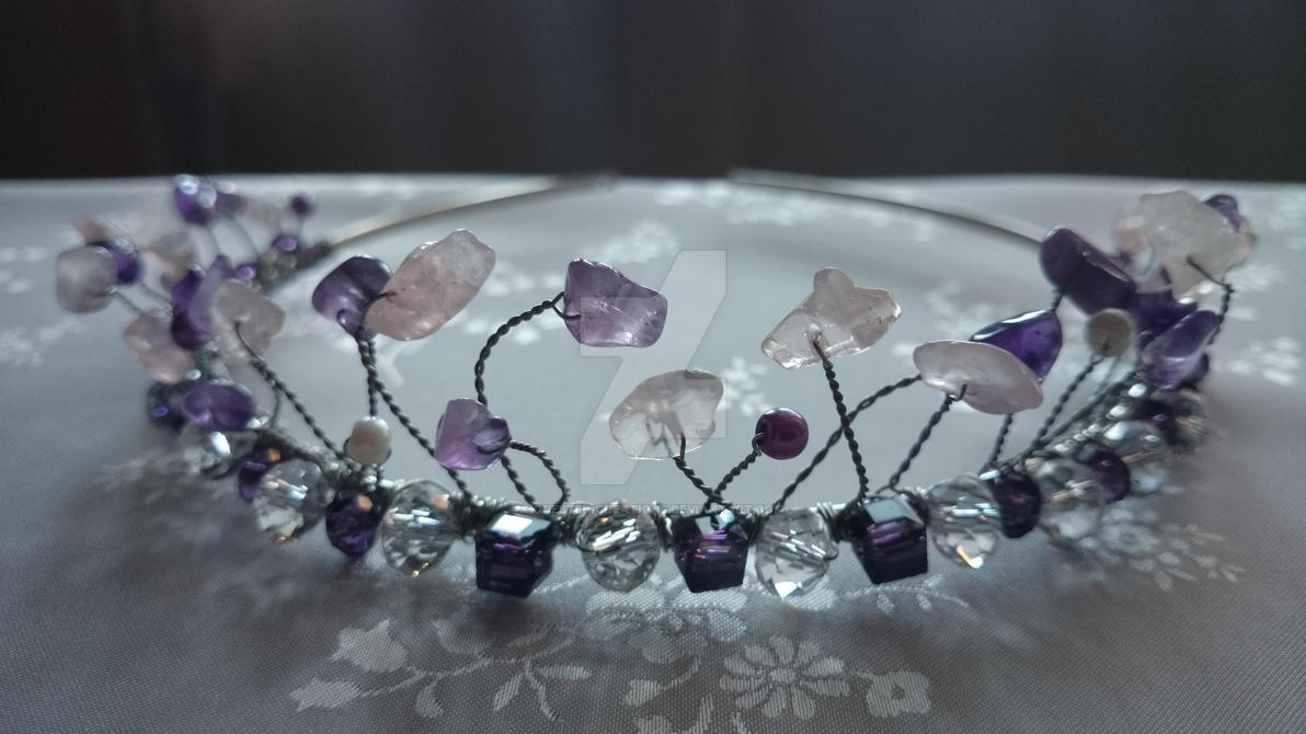 Amethyst and rose quartz tiara by Quested-Creations on DeviantArt