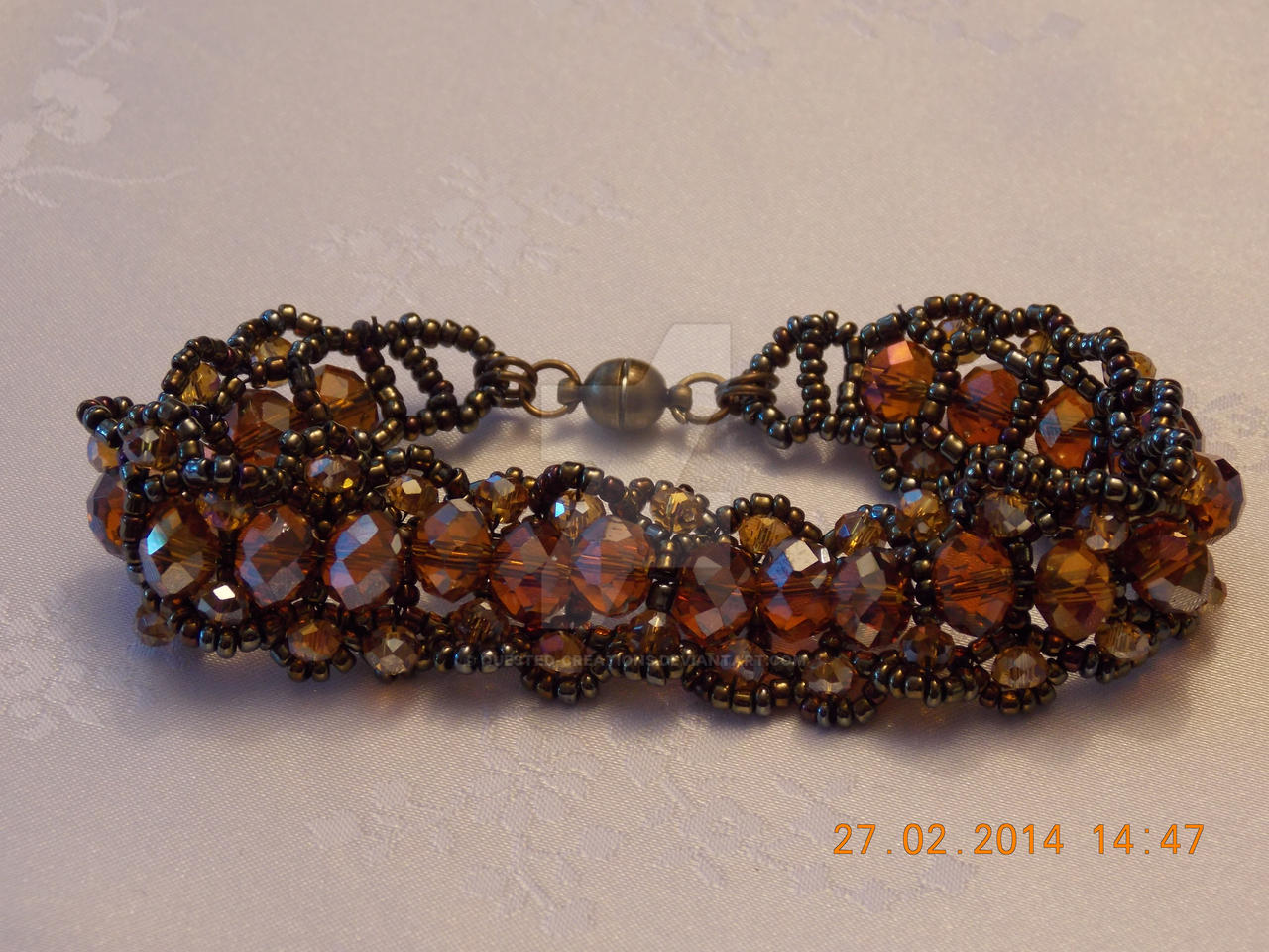 Victorian inspired beaded bracelet by Quested-Creations