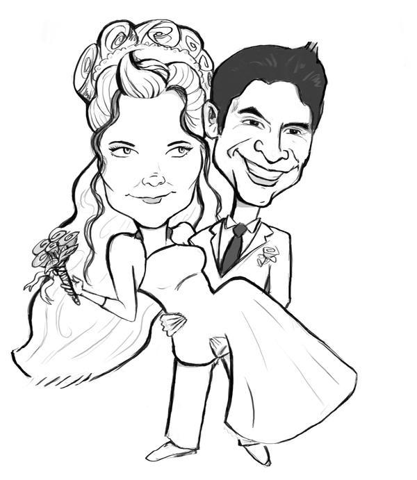 wedding caricature by ~Cr3nshaw on deviantART