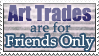 [STAMP] Trades Friends Only by la-Liriell