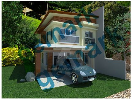 3D rendering of a model house by marky83