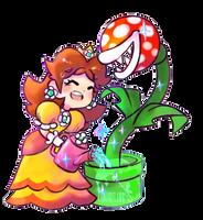 Princess Daisy sticker by wishkoi