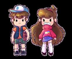 Mystery Twins Stickers by wishkoi