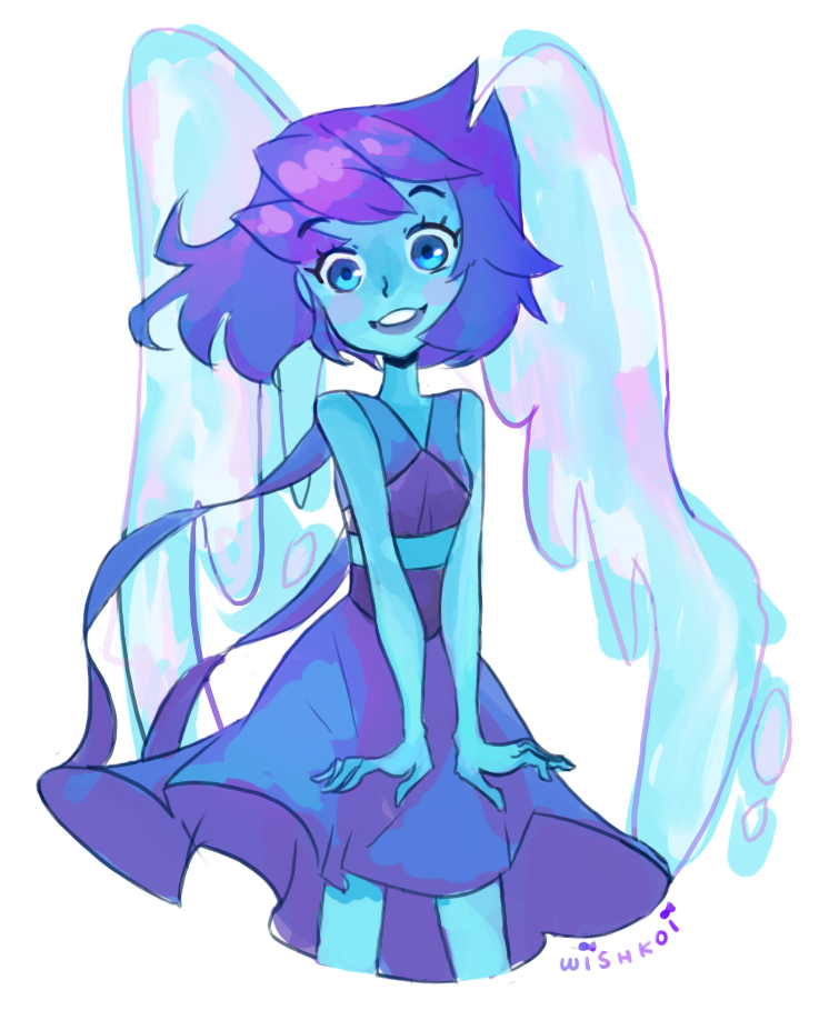 A year and a half ago I drew Lapiz Lazuli, so i went ahead and tried again! art (c) lapiz (c) rebecca sugar