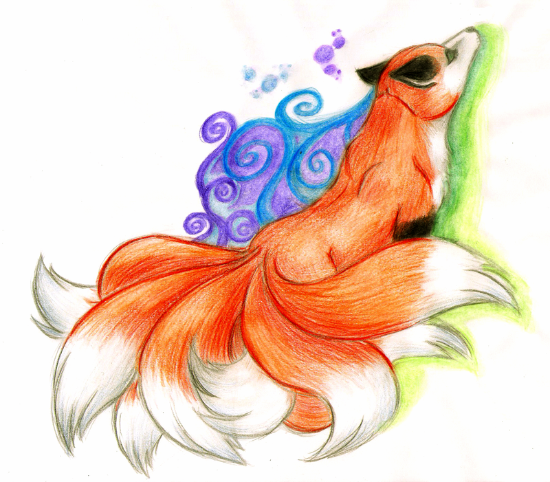 how to draw a red tail fox