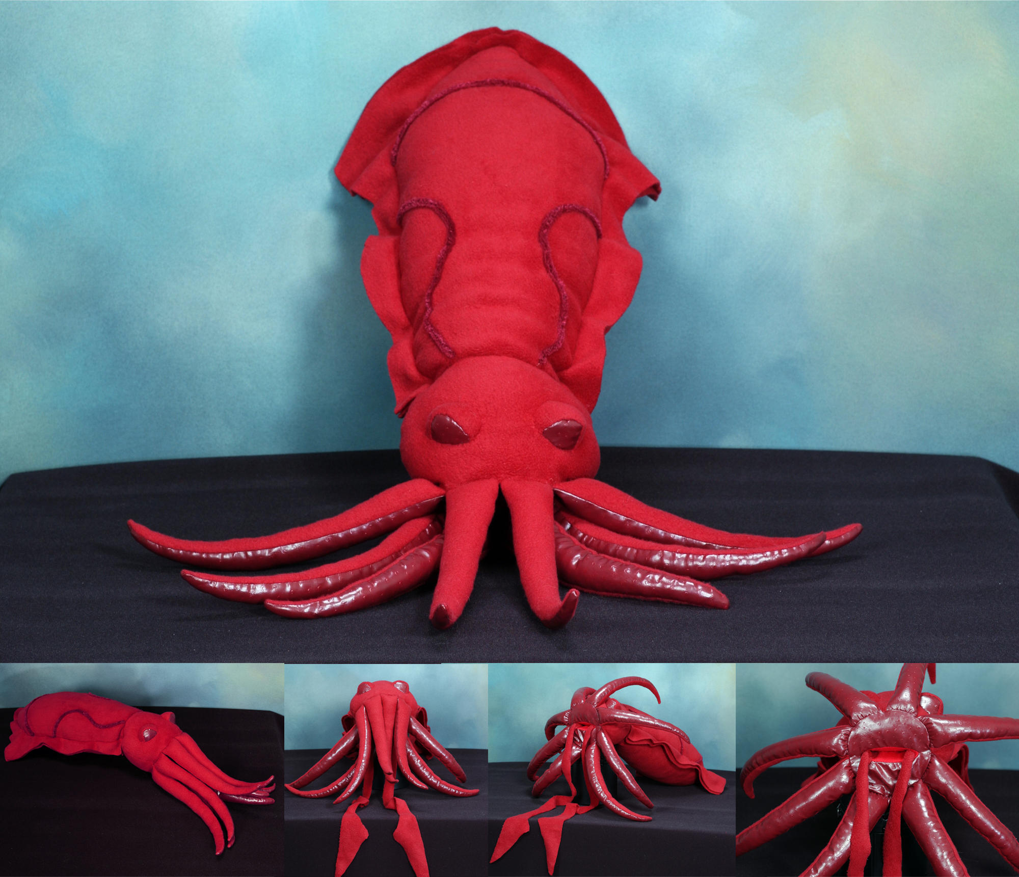 Crimson Squid by lucylovebiscuit