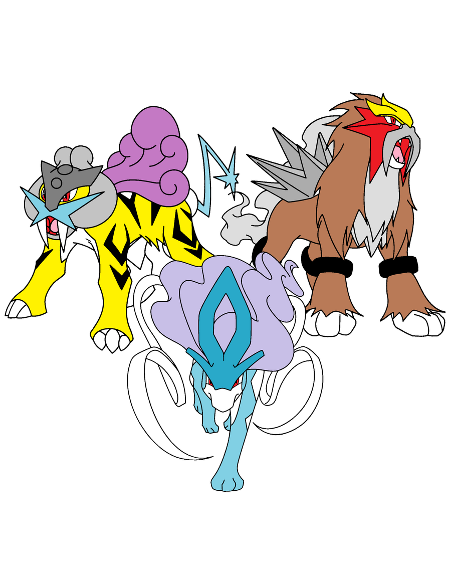 raikou suicune and entei by yliadinosaur on DeviantArt