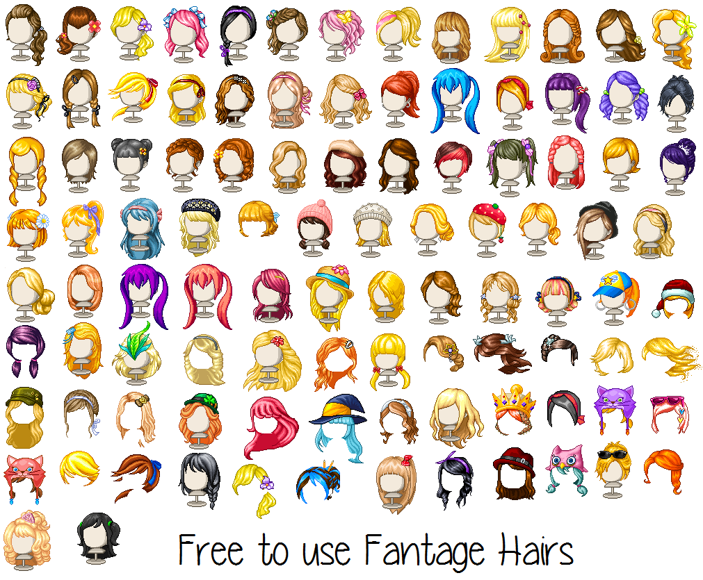 Mega Fantage Hair Pack By Xhikari Chan On Deviantart