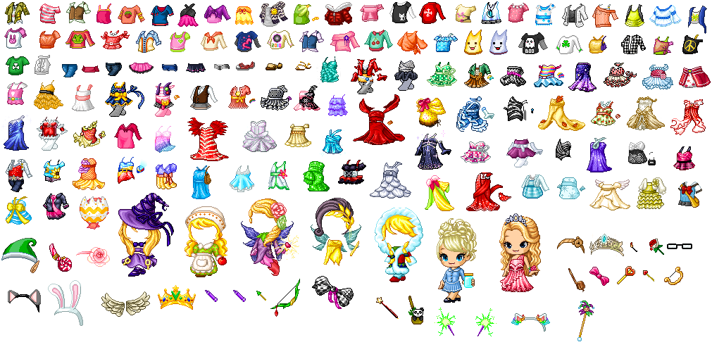 Mega Fantage Outfit Shirts Pants Accessory Pack By Xhikari Chan On