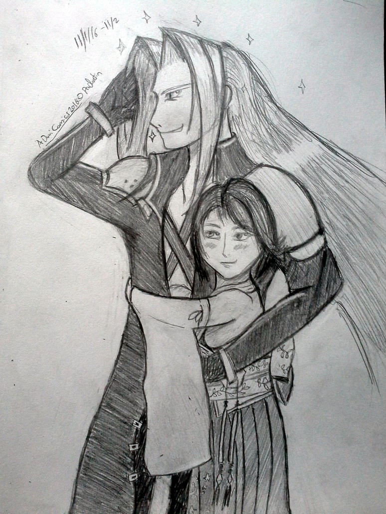 Sephiroth And Yuna by sephiroth1204