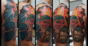 Superman half sleeve