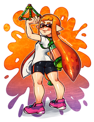 Inkling Girl by cyandreamer