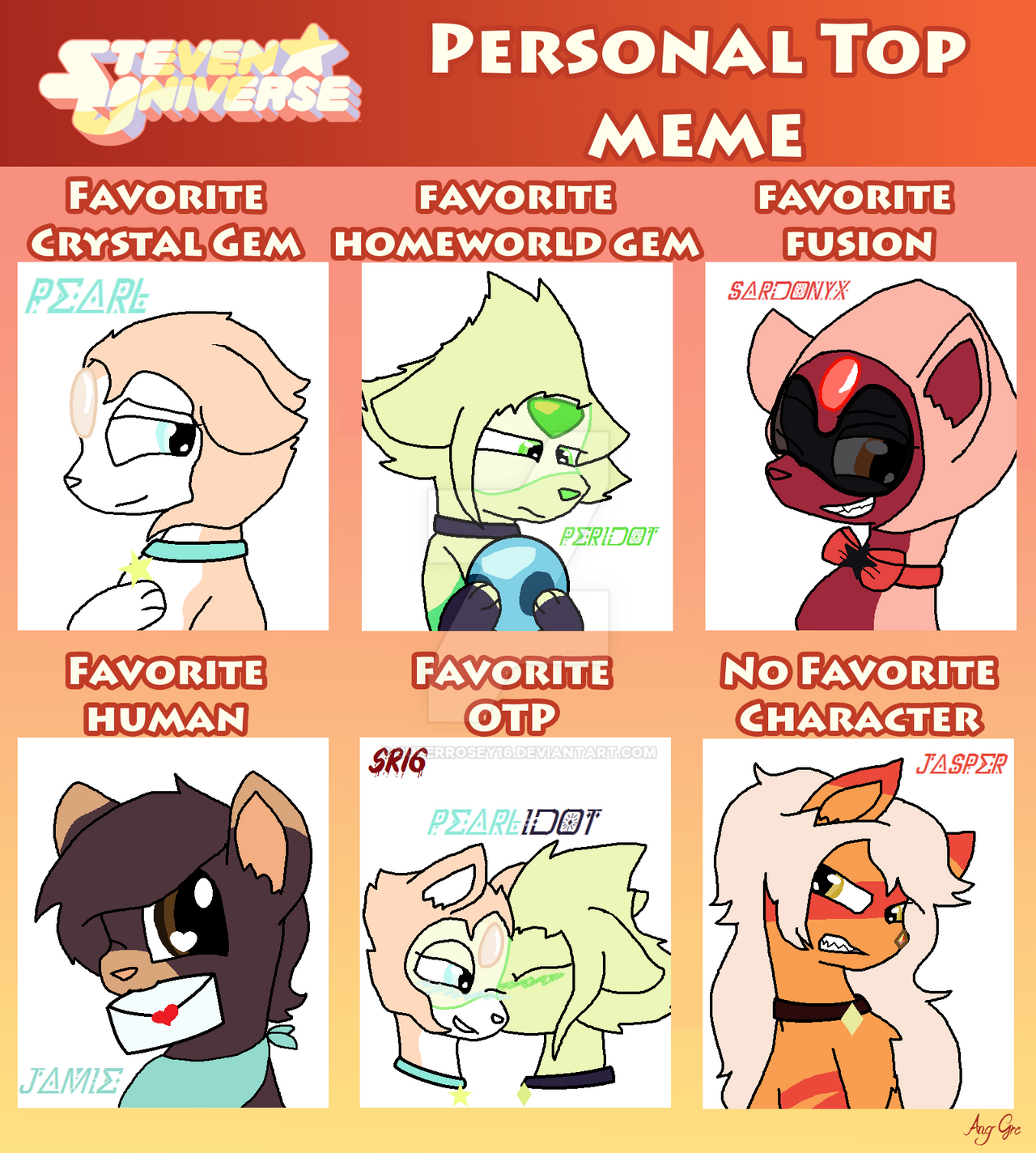 Steven Universe Personal Top Meme With Wolves by ...