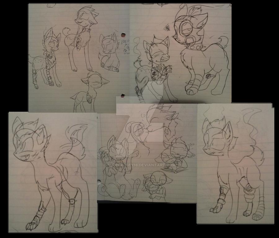 Junkrat doodles by SuperRosey16