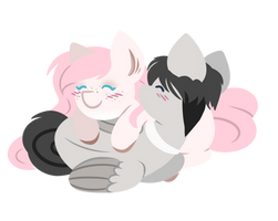 .:YCH:. Valentines Cuddles by Amazing-ArtSong