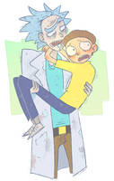 rick and morty by DoctorPed