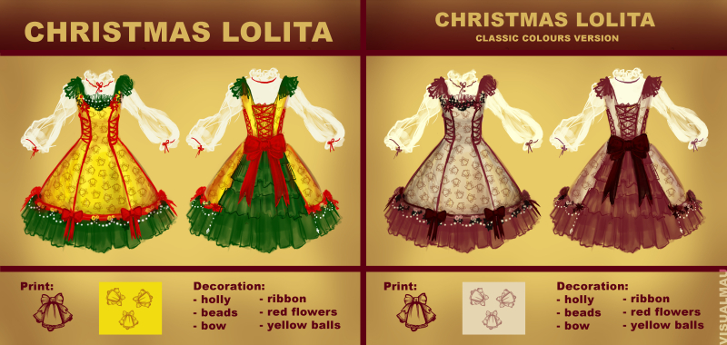 Christmas Lolita Dress Design By Bat Mau On Deviantart