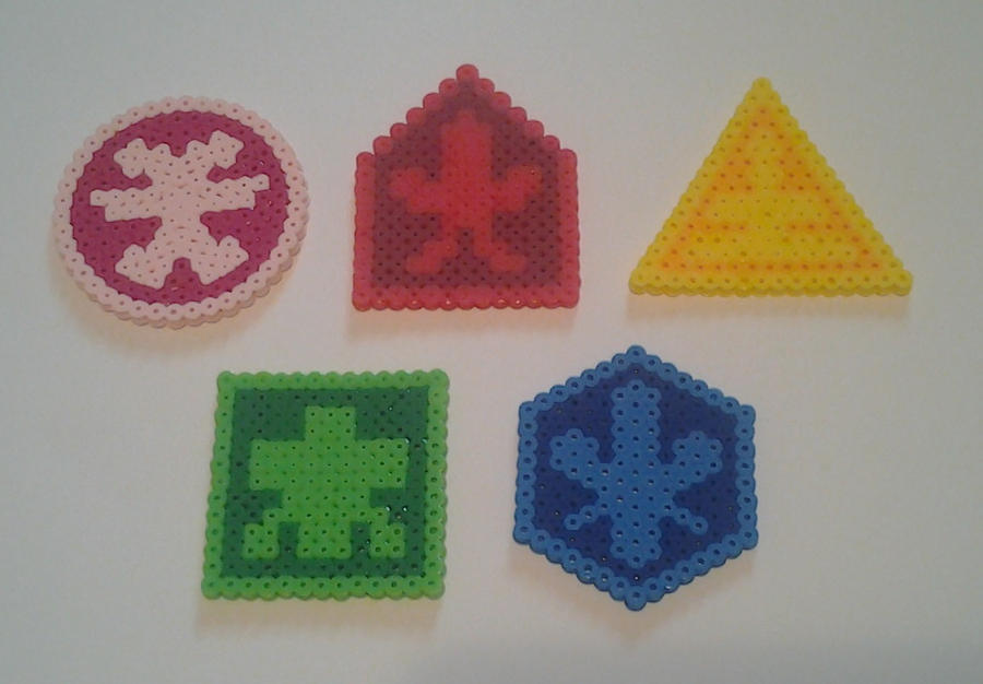 Perler Bead Power Ranger Samurai Symbols By Seanacid On Deviantart
