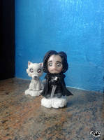 Jon Snow / Ghost by r0ra