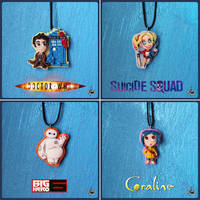 Clay necklace collection #1 by r0ra