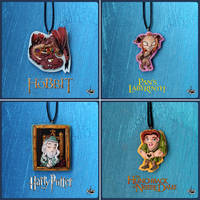 Clay necklace collection #2 by r0ra