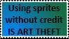 Sprite theft Stamp by Ponponwaypon
