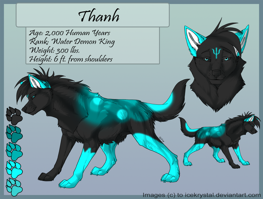thanh water demon wolf by lotuskoi on deviantart