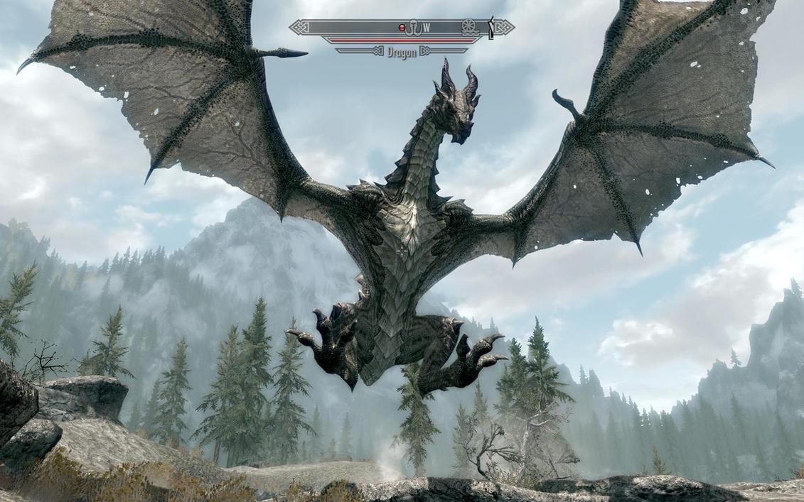 Skyrim-dragon by Jd1680a