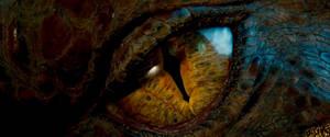 The Hobbit- Dragon Eye by GiuseppeDiRosso