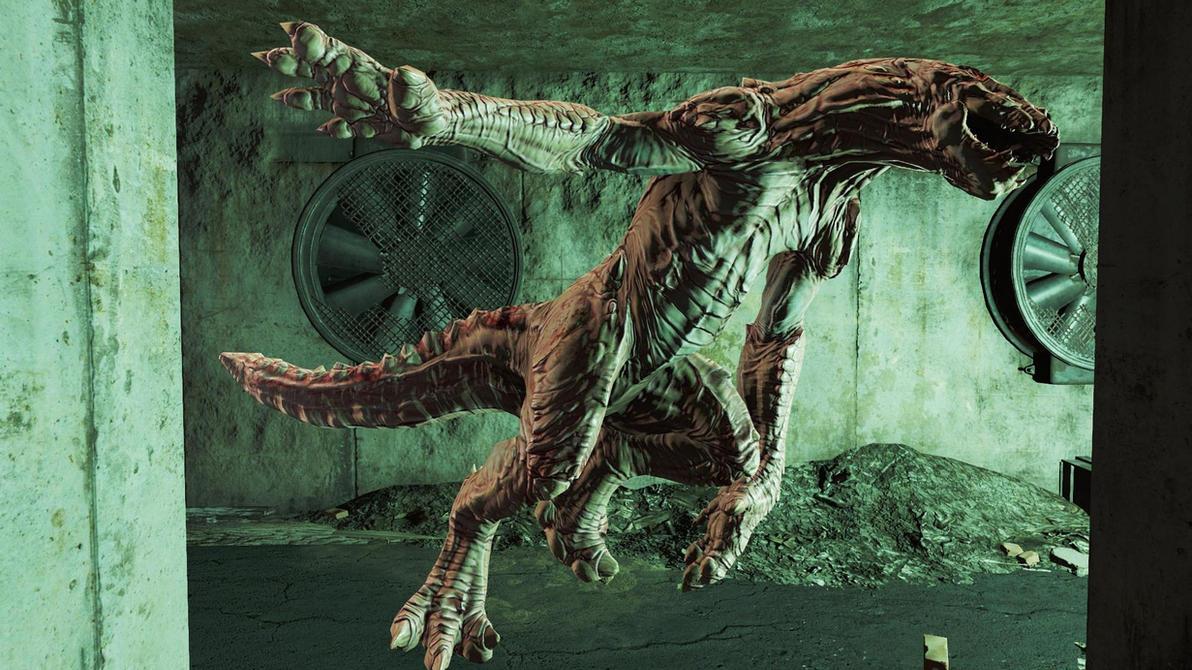 Fallout4-AlbinoGatorClaw by GiuseppeDiRosso