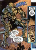 Badrock Wolverine Comic-Gigantasaur Man by GiuseppeDiRosso