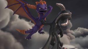 Skylanders Academy Season 3-Spyro Evil Spyro by GiuseppeDiRosso