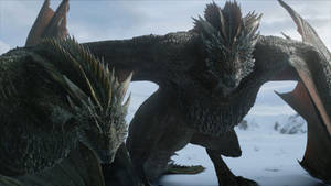 Game of Thrones S8-Drogon Rhaegal 2