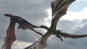 Game of Thrones S8-Drogon Rhaegal 3