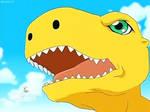 Digimon Data Squad E1-Agumon